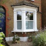 Sash Windows with Decorative Glass London